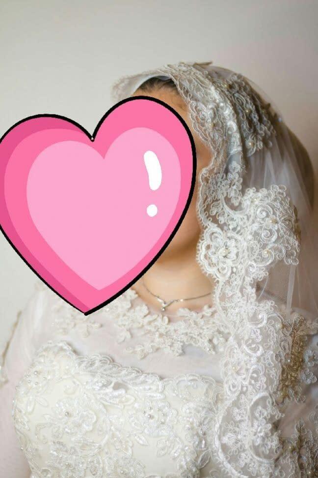 فستان زفاف بديل طويل اوف وايت اللون