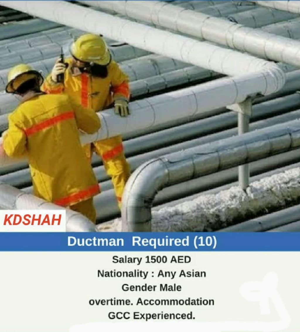Required Duct man 10 numbers for Dhabi